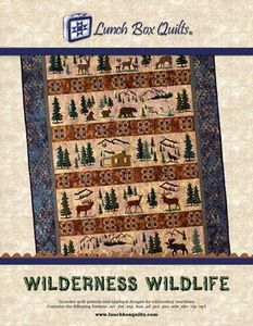 Lunch Box Quilts QP-WW-DD Wilderness Wildlife Embroidery Designs