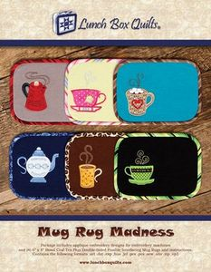 Lunch Box Quilts ECMRDD USB Mug Rug Madness Embroidery Design Pack