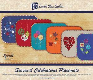 Lunch Box Quilts ECSC1 Seasonal Celebrations Applique Embroider Design CD
