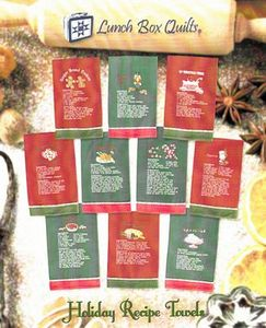 Lunch Box Quilts ECHRDD Holiday Recipe Collection Embroidery Design Pack