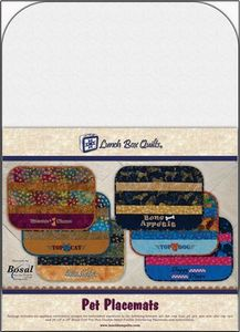 Lunch Box Quilts ECPM1 Pet Placemats Embroidery Designs