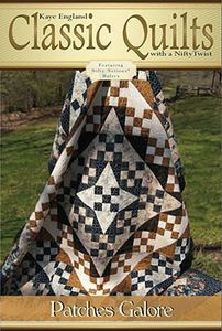 Kaye England Publication 93-4302 Patches Galore Quilt Pattern
