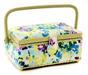 """Dritz Z10010-151 Sewing Basket Small Rectangle,9-1/4""""x6-1/4""""x4-1/4"""""""