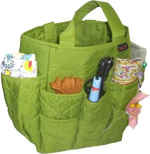 Yazzii International CA700G Craft Basket Green 18 Pocket Organizer