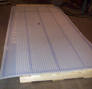 """Sew Fit SFT 60X120"""" Largest Translucent Mega Cutting Mat Pro, Drapery Size, Pinnable Gridded Styrene, for Handheld Electric, Rotary or Scissor Cutters"""