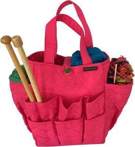 Yazzii International CA700P Craft Basket Fuschia 18 Pocket Organizer