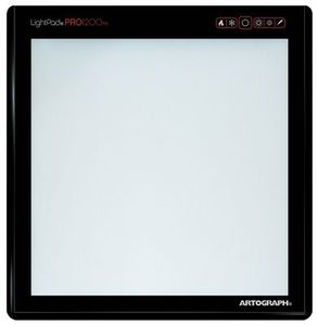 Artograph A1200 LightPad Pro1200 Light Box 12in Square, variable brightness up to 11,000 lux strong enough to shine through 300 pound paper and fabric