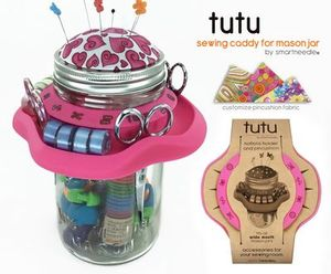Smart Needle Inc SNTUTUP Tutu Mason Jar Sewing Caddy