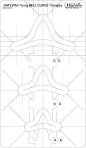 Sew Steady Westalee WT-FBCTG Flying Bell Curve Triangle Gateway, 3 Sizes in 1 Template: 2, 1.5, 1 Inch