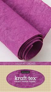 "Kraft-tex Designer CT20384 Radiant Orchid Paper, Leather Feel, Washes Like Fabric, 18.5""X28.5"" Roll"