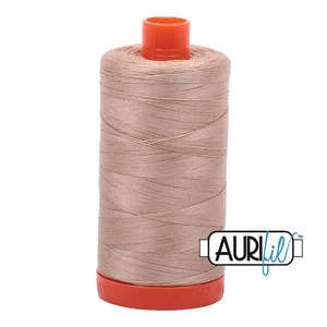 Aurifil MK50SC6-2314 Beige Cotton Mako Thread 50wt 1422 Yard Spool