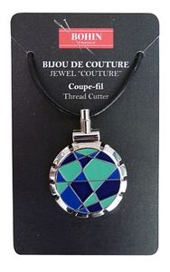 Bohin B98310 Jewel Thread Cutter  Blue Lime Necklace