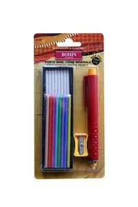 BOHIN 91493 Chalk Pencil & Refills - White & Colors, 5/box Box of 5
