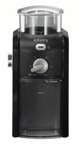 Krups GVX1-14 Black Burr Grinder - for 2 to 13 Cups of Coffee, 8oz coffee bean holder