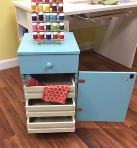 Arrow 98809 Suzi Sidekick Storage Cabinet, 4 Drawers, Blue