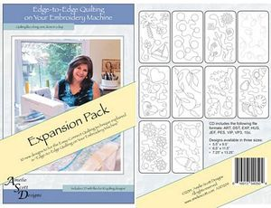 Amelie Scott Designs ASD204 Edge to Edge Quilting Expansion Pack CD for your Embroidery Machine