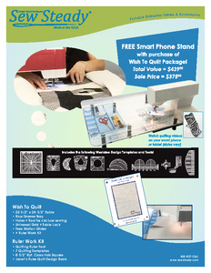 83354: Sew Steady SST-WISH2QUILT Wish To Quilt Table Package + Bonus Smart Phone Stand!