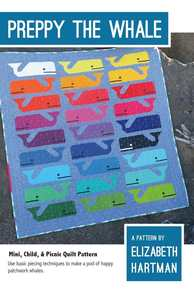 Elizabeth Hartman EH014 Preppy The Whale Quilting Pattern