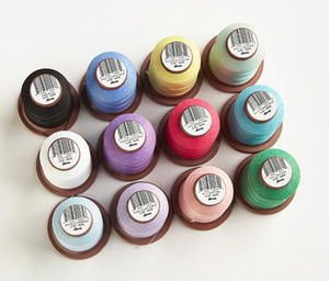 DIME VT15W-PAS Vintage Chic 12 Spool Embroidery Thread Kit-15wt Weight Poly-PASTELS