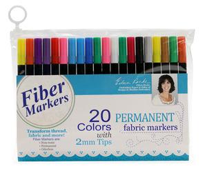 DIME VTFM01 Vintage Chic Fiber Fabric Markers: 20 Colors, 2mm Tips,