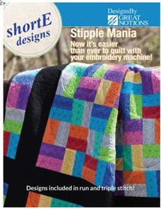 DIME SM0001 shorte Stipple Mania 159 Quilting Designs for 4, 5, 6 Inch Blocks
