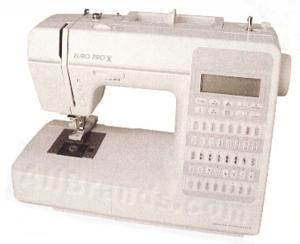 Euro Pro 9105  40-Stitch Computer Sewing Machine with Drop-in Bobbin, 3 one-step Buttonholes,30 Stitch Memory & 25 Year Warranty BRAND NEW