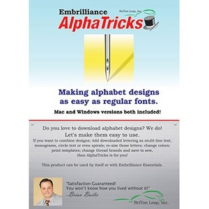 Embrilliance, AlphaTricks, AT10, Alphabet, Design, Software ,MAC/Windows, Free Downloads,Embrilliance AlphaTricks AT10 Alphabet Design Software MAC/Windows