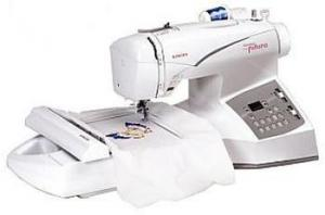 """Singer Quantum  CE200 Futura 129-Stitch  Functions 4.5 x 6.75"""" Embroidery  & Sewing Machine CE 200, Auto Punch DIGITIZING Software & 25/5 YR Ext. Wnty"""