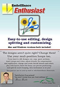 Embrilliance Enthusiast EHF10 Editing, Splitting, Customizing Embroidery Software for MAC/Windows