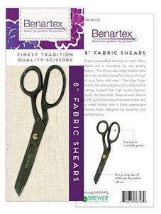 Benartex BEN728 8 inch Razor Edge Bent Trimmer Fabric Shears
