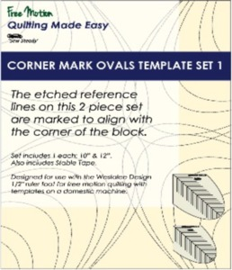 Sew Steady WT-CMO-1 Westalee Corner Mark Oval Template Set 1-2 Piece Set