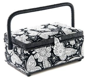 """84417: Dritz Z10010161 Sewing Basket Small Rectangle, 9 1/4"""" x 6 1/4"""" x 4 1/4"""""""