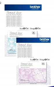 Brother Scan N Cut CATTLP02 Tattered Lace Pattern 20 Designs Collections 2