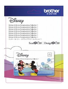 84505: Brother CADSNP01 Scan N Cut Disney Mickey Mouse & Minnie Mouse Paper Craft Pattern Collection #1