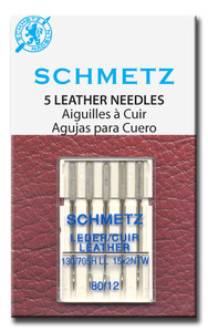 Schmetz, S-1715, Leather Point Needles,130/705HL, 15x2NTW , 5 Pack, Size 14/90