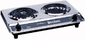 "BroilKing PR-D1 Chrome Professional, Commercial Grade Double Range, 1650 Watts, Two 5 1/2"" Tubular Elements, Made in USA"