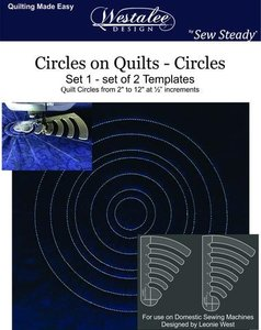 "80709: Westalee WT-COQ-SET2: 2 1/12"" - 1 1/12"" Circles on Quilts 2 Piece Templates Set"