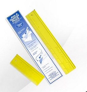 "Add-A-Quarter PLUS CMAAQPCMBO 6 and 12"" Rulers Combo adds the customary 1/4"" seam allowance"