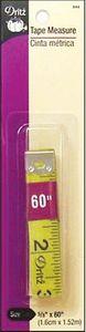 """Dritz D834 White Vinyl Flexible Tape Measure 1/2"""" Wide x 60"""" Long"""