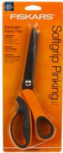 85018: Fiskars F15024 CutWorks Softgrip Pinking Shears, Comfort Grip