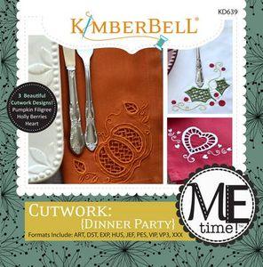 KimberBell Designs KD639 Cutwork Dinner Party