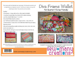Sew Many Creations SMC223 Diva Frame Wallet