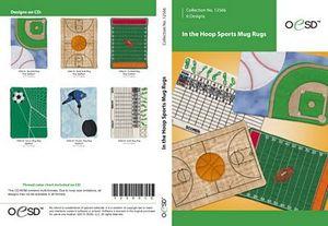 OESD 12566CD In the Hoop Sports Mug Rugs Coaster Embroidery Designs CD