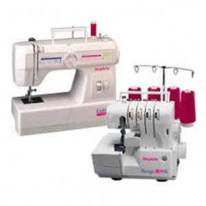 Simplicity SW2145 FashionPro Sewing Machine (Brand New) & SW432 Pro Serger (Factory Serviced) Combo