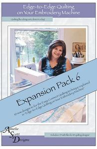 Amelie Scott 10 Designs ASD218 Edge to Edge Expansion Pack 6 CD for your Embroidery Machine