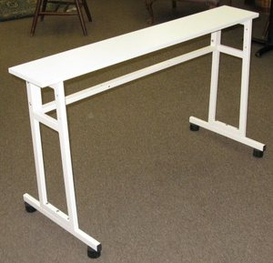 Artisan, Universal, Knitting, Machine, Tressel, Leg, Metal, Stand, Table, 27, H, 48, W, 8, D, Back, Brace, Yarn, Shelf, Portable, Flat, bed, Home, Knitter