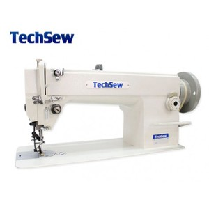 Techsew 5580 Flatbed Needle Feed Wheel Feed Industrial Sewing Machine with Roller Foot Built In for Feeding Hard Leather, Vinyl or Canvas