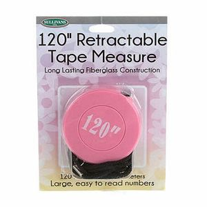"""Sullivans 120"""" Pink Retractable Tape Measure"""