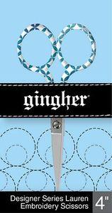 """85899: Gingher Lauren F220272 - 4"""" Designer Embroidery Scissors"""
