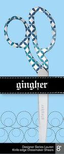 """85900: Gingher F220522 Lauren - 8"""" Designer Dressmaker Shears - RH"""